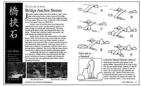 This Japanese Garden Bridge Article Is About Anchor Stones. It Explains How  And Why Anchor Stones Are Positioned At One Or More Corners Of Nearly Every  ...